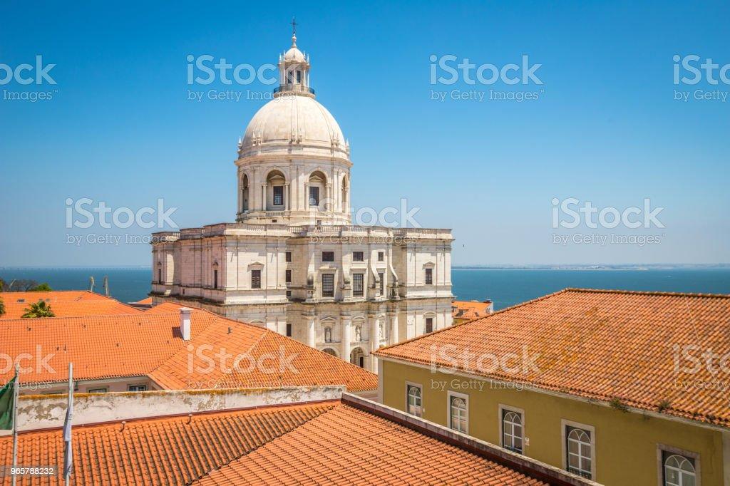 View of Lisbon Pantheon - Royalty-free 2015 Foto de stock