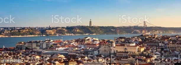 View Of Lisbon Portugal From Miradouro Da Senhora Do Monte Stock Photo - Download Image Now