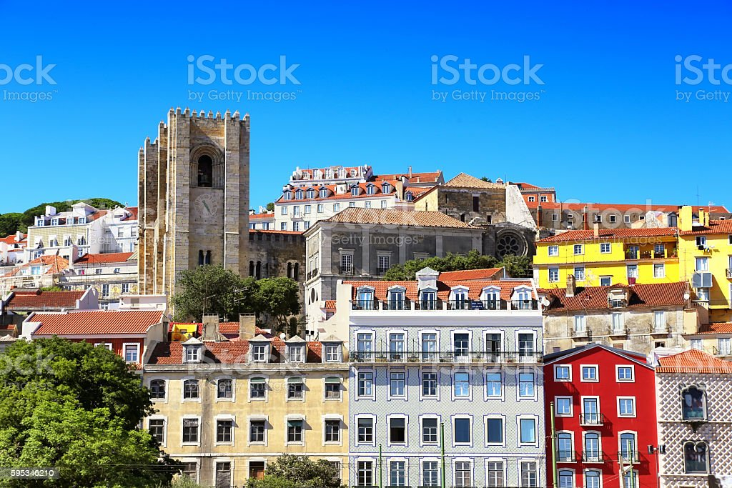 View of Lisbon, Portugal. stock photo