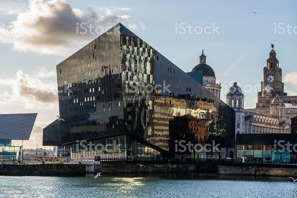 View of Liverpool docks stock photo