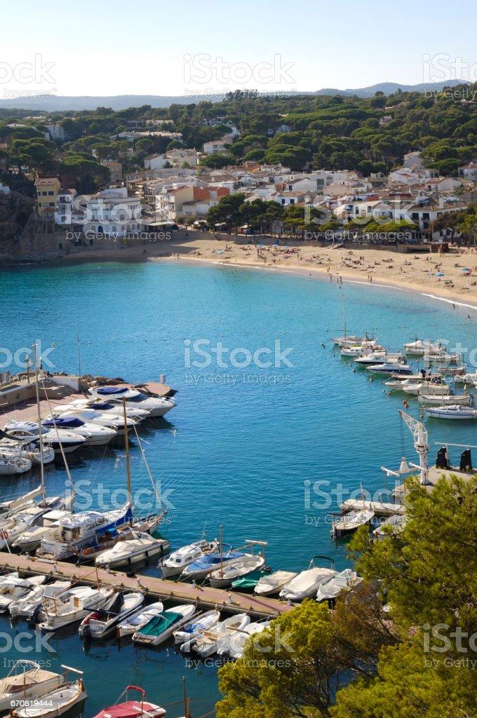 View of Llafranc, Costa Brava, Girona, Spain stock photo