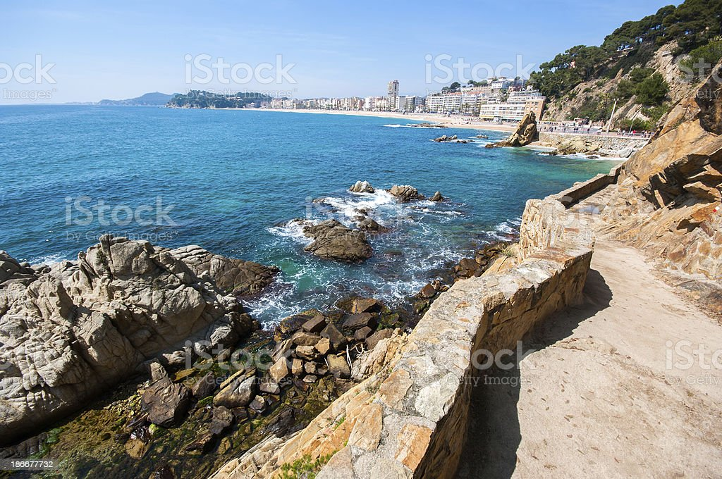 View of LLoret de Mar.Catalonia.Spain stock photo