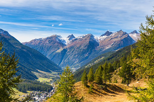 View of Loetschental valley from Fafleralp
