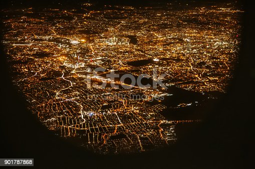 istock View of London City from Airplane 901787868