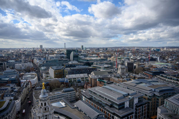 View of London from St. Paul's Cathedral stock photo