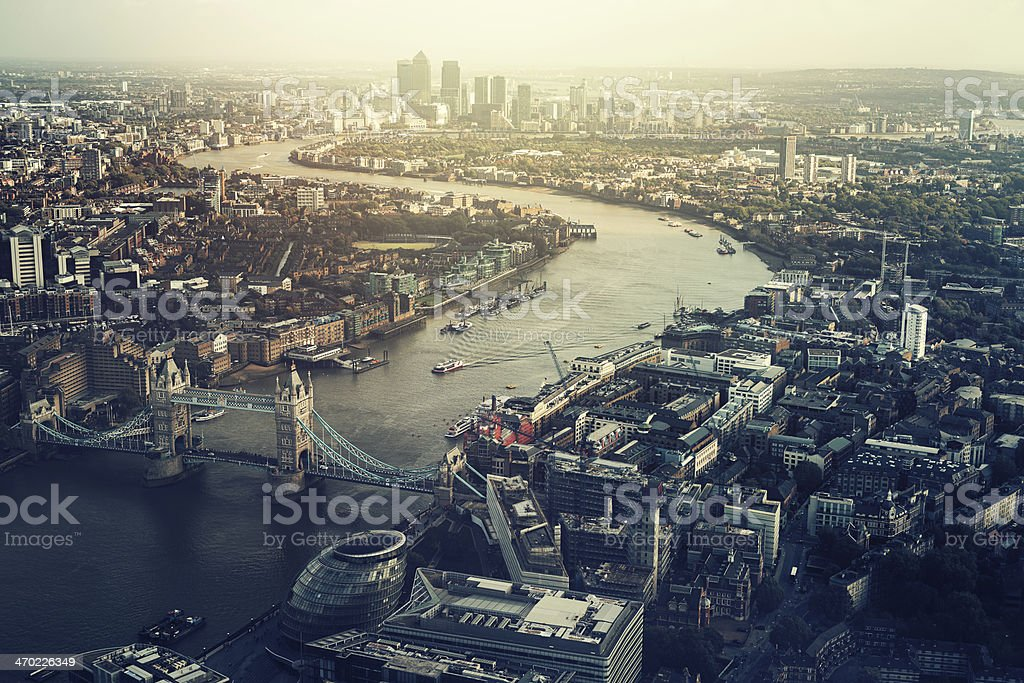View of London royalty-free stock photo