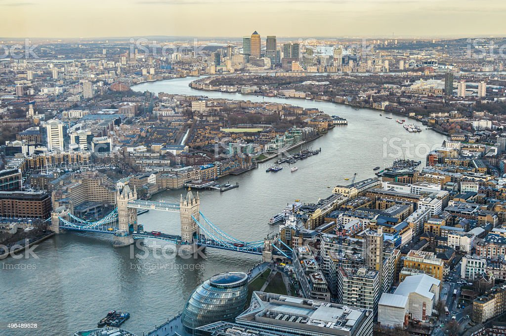 View of London Aerial view of London 2015 Stock Photo