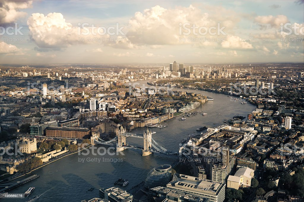 View of London skyline stock photo