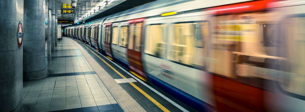 view of london underground - tube stock pictures, royalty-free photos & images