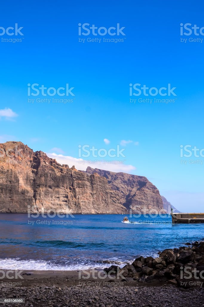 View of Los Gigantes City stock photo