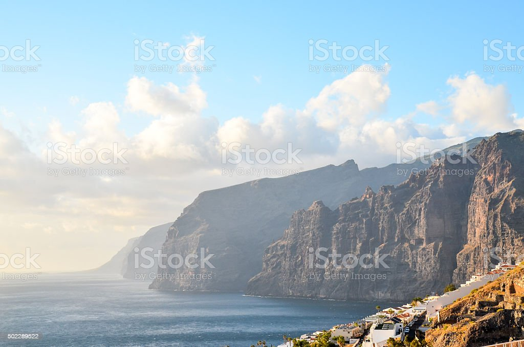 View of Los Gigantes stock photo