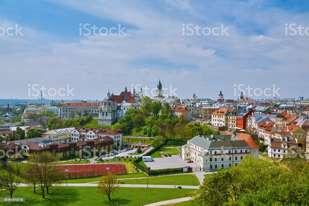 View of Lublin stock photo