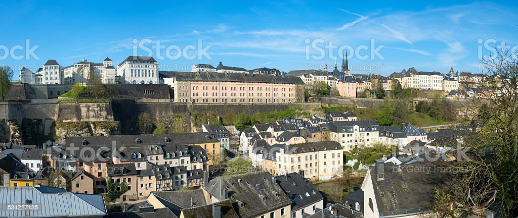 View of Luxembourg historical city center stock photo