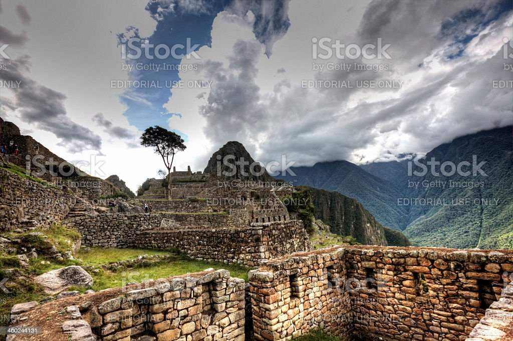 View of Macchu Picchu royalty-free stock photo