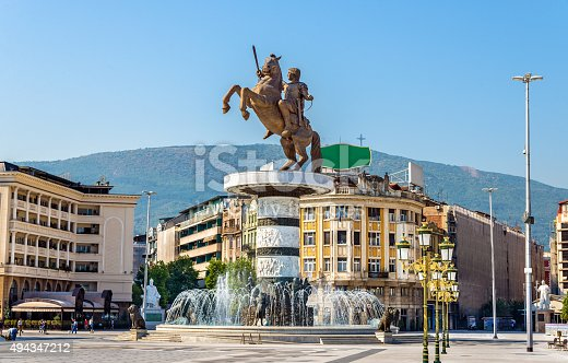686175420 istock photo View of Macedonia Square in Skopje 494347212
