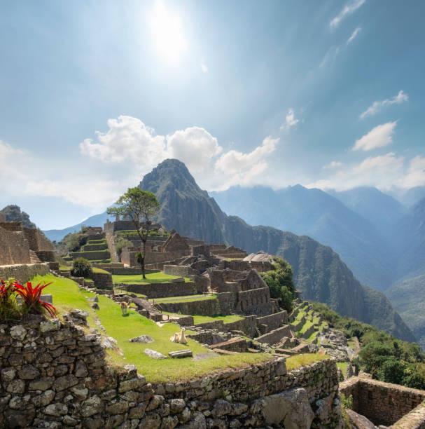 View Of Machu Picchu And Huayna Picchu In Peru stock photo