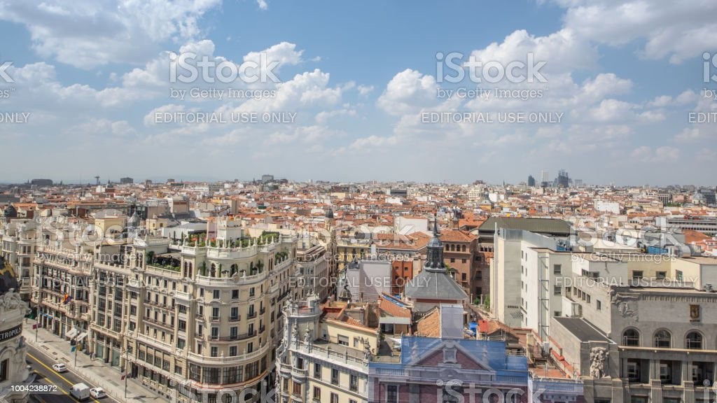 Vista De Madrid Desde La Azotea Del Circulo De Bellas Artes