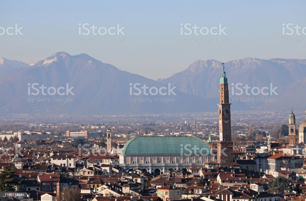 View of Main Monument of Vicenza City in Italy called Palladian - foto stock