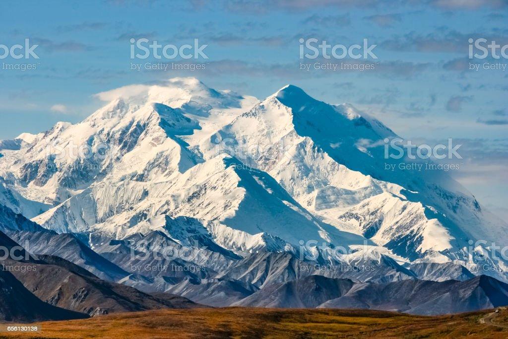 View of majestic Denali (Mount McKinley) stock photo