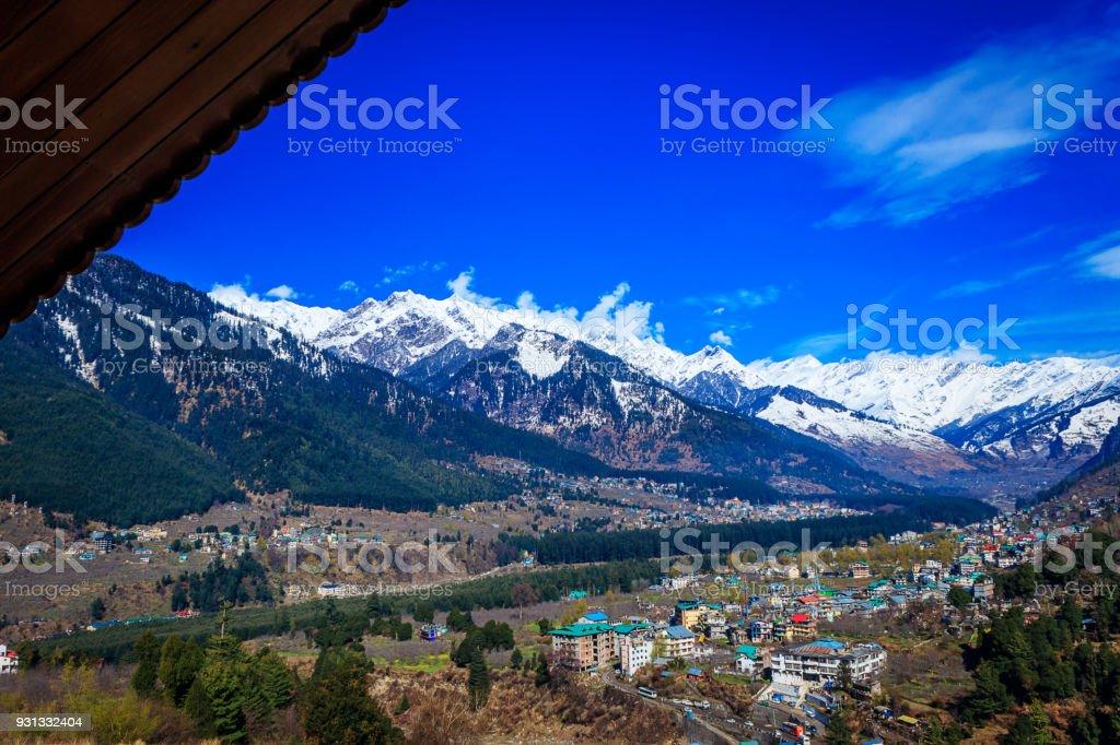 View of Manali,India stock photo
