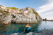 Manarola is a small town of Riomaggiore, in the province of La Spezia, Liguria, northern Italy. It is the second smallest town of the famous Cinque Terre towns.The five villages: Monterosso al Mare, Vernazza, Corniglia, Manarola, and Riomaggioreand  all part of the Cinque Terre National Park and is a UNESCO World Heritage Site.