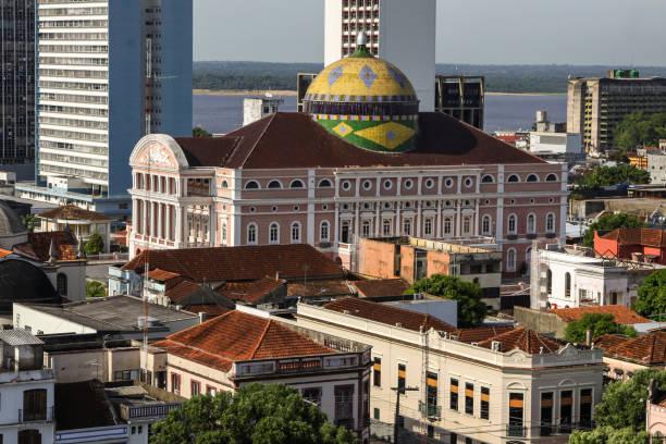 View of Manaus with Teatro Amazonas – Foto