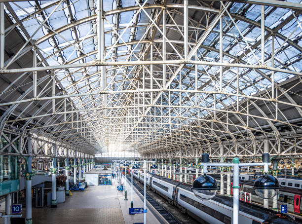 View of Mancester train station stock photo