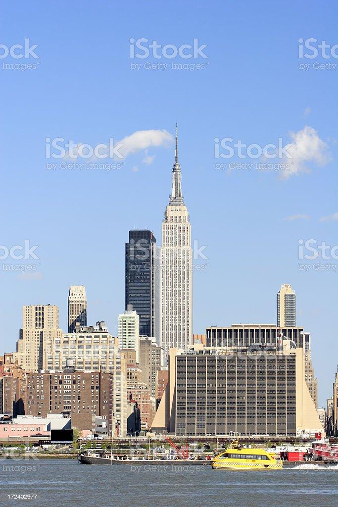View of Manhattan across Hudson royalty-free stock photo