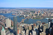 istock View of Manhattan and Brooklyn Bridges from One World Observatory 872132540