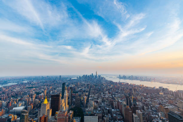 A view of Manhattan during the sunset - New York - foto stock
