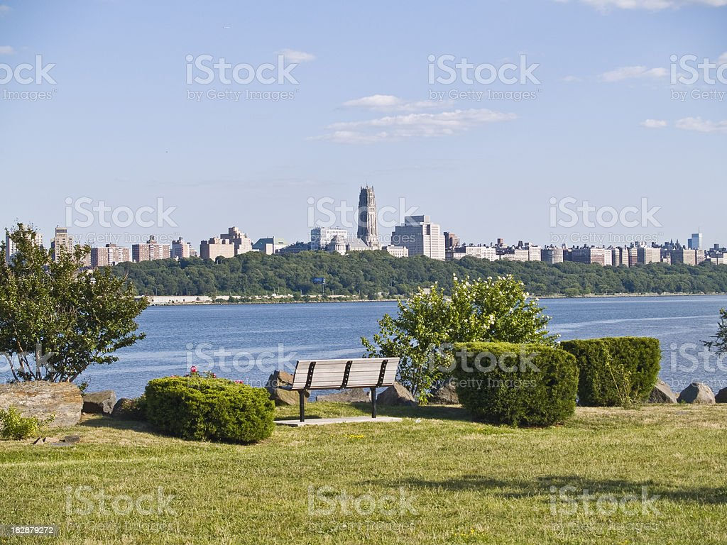 View of Manhattan from Across the Hudson River stock photo