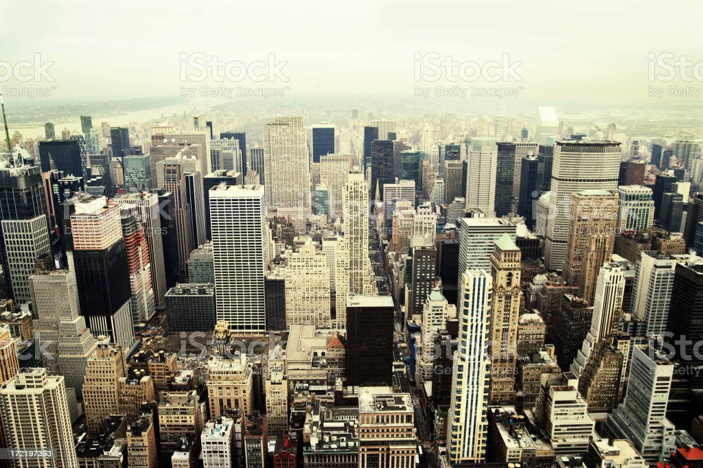 View of Manhattan, New York City royalty-free stock photo
