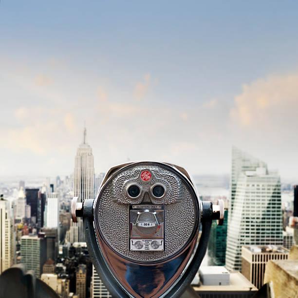 View of Manhattan skyline stock photo