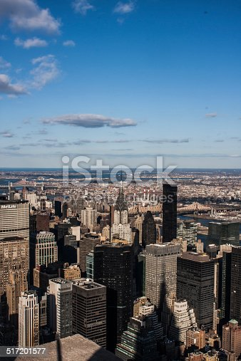 View from the empire state building over manhatten.
