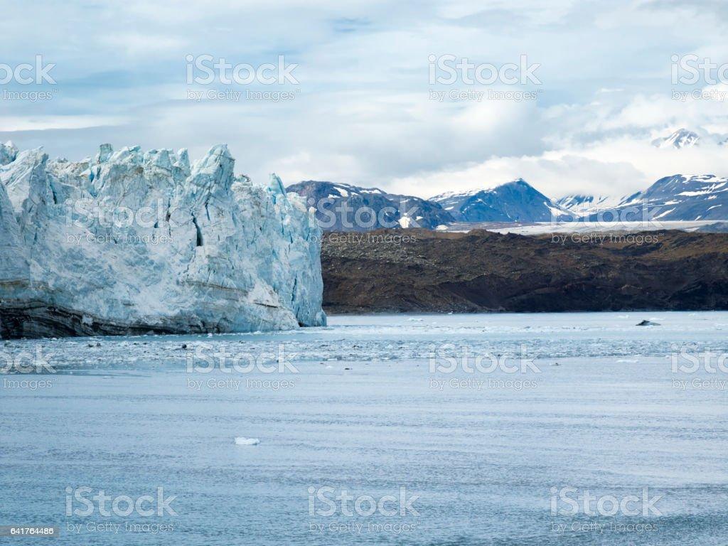 View of Margerie Glacier at Glacier Bay National Park, Alaska stock photo