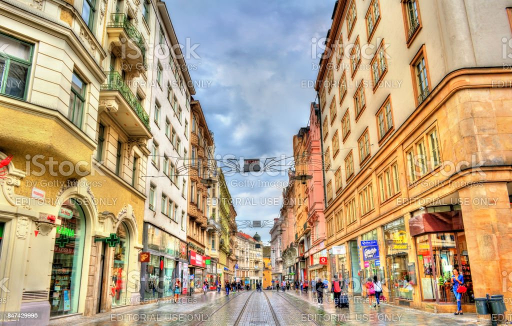 View of Masarykova street, the main street of Brno