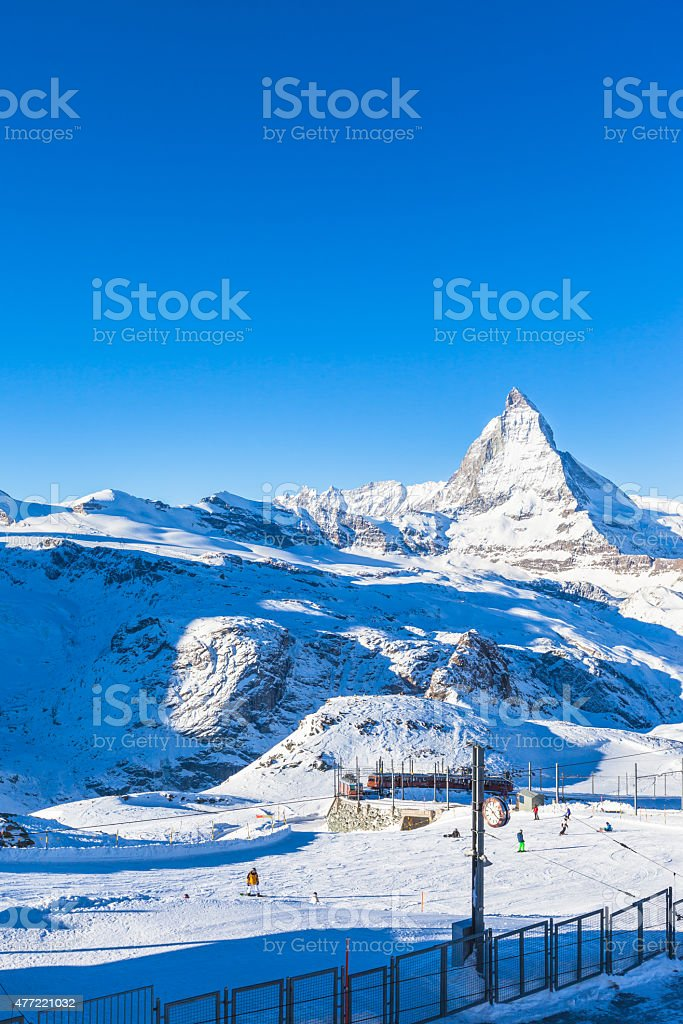 View of Matterhorn from Gornergrat stock photo