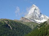 Zermatt, Switzerland - january 29, 2009:   View of Matterhorn mountain