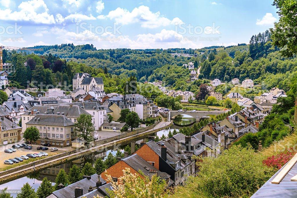 View of medieval Bouillon city in Belgium - Photo