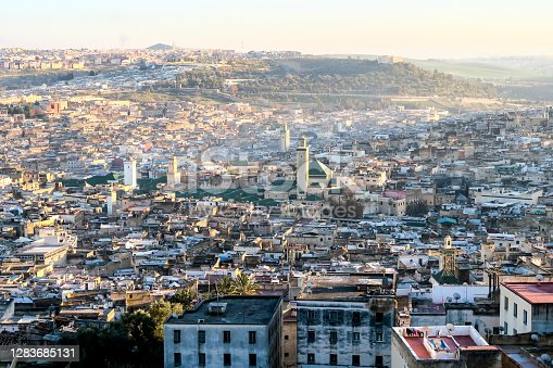 View of Medina in fes morocco, beautiful photo digital picture