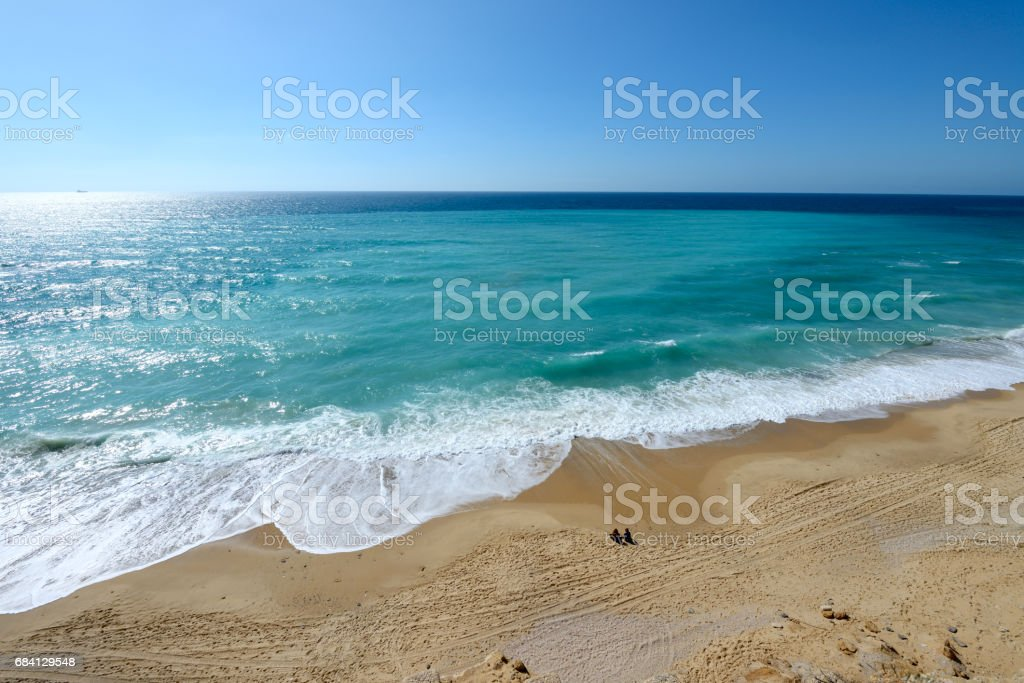 view of mediterranean sea beach royalty free stockfoto