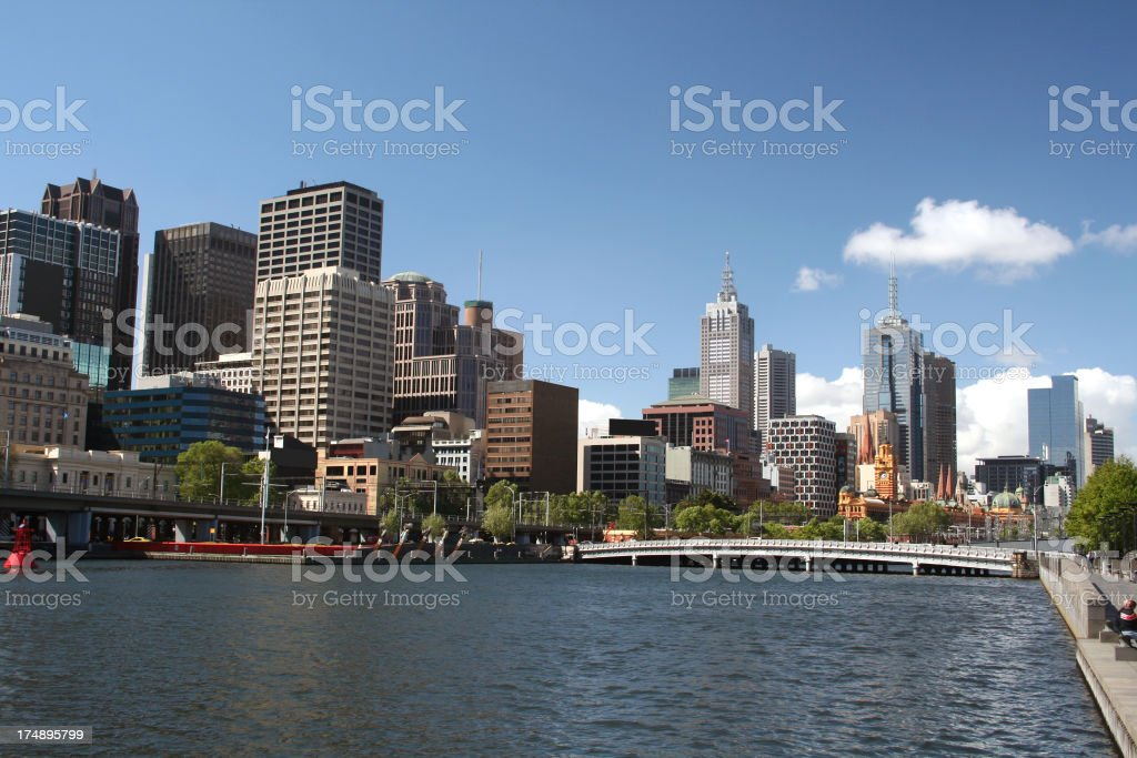 View of Melbourne city royalty-free stock photo