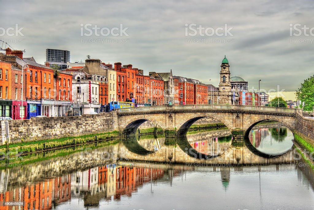 View of Mellows Bridge in Dublin - Ireland stock photo
