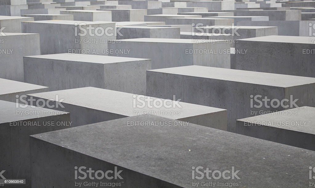 View of Memorial to the murdered Jews of Europe – Foto