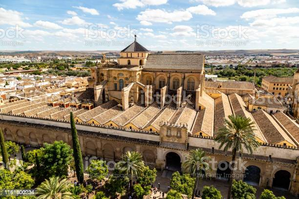 View Of Mezquita Catedral De Cordoba From The Bell Tower The Former Minaret  Of The Moorish