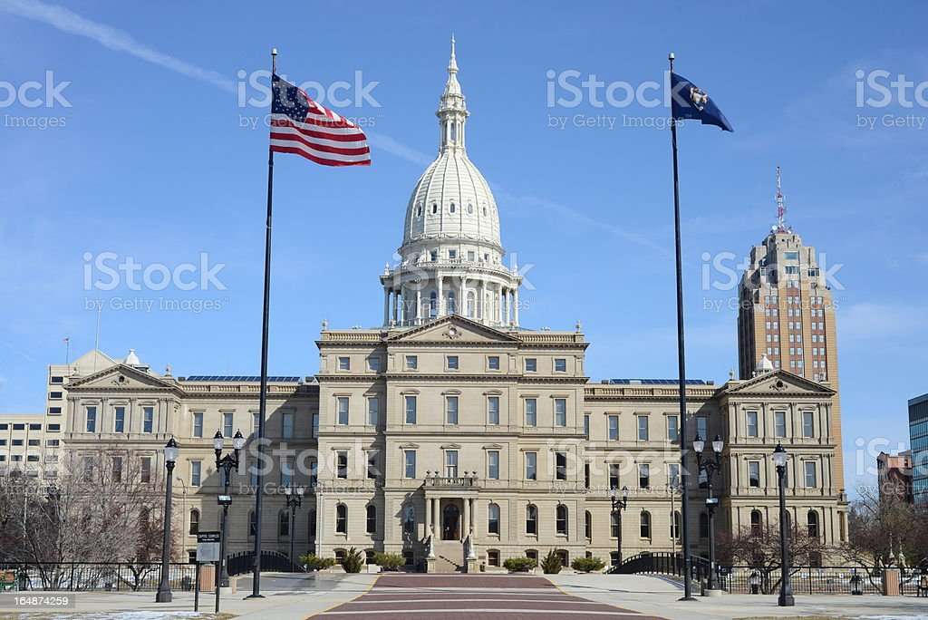 View of Michigan State Capitol Building stock photo