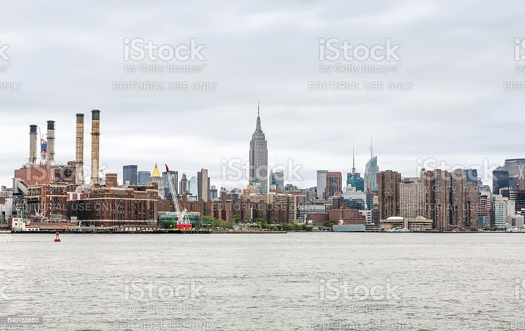 View of Midtown Manhattan skyline with Empire State Building stock photo