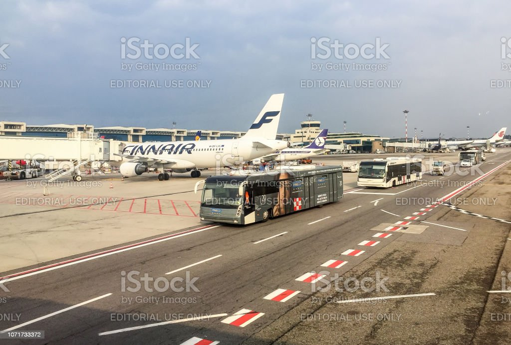 View Of Milanmalpensa International Airport Terminal 1 Stock Photo Download Image Now Istock