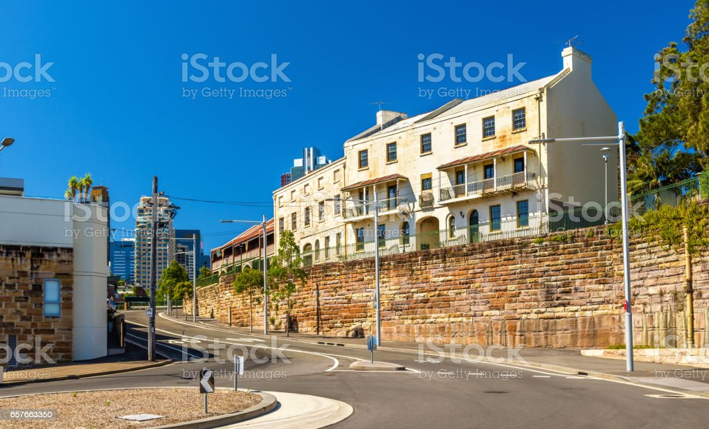 View of Millers Point District in Sydney, Australia stock photo