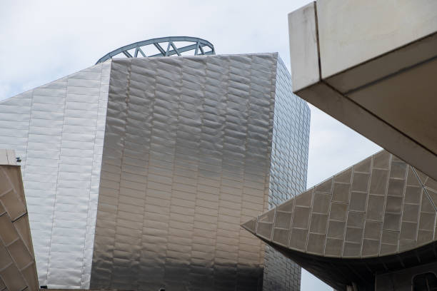 View of modern architectural buildings at the Lowry waterside arts complex at the Salford Quays stock photo